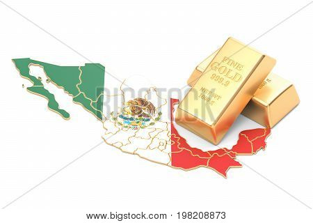Foreign-exchange reserves of Mexico concept 3D rendering isolated on white background