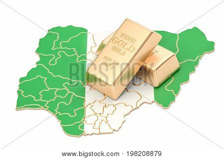 Foreign-exchange reserves of Nigeria concept 3D rendering isolated on white background