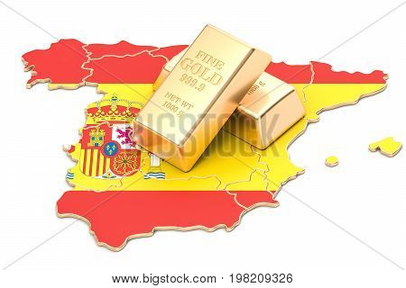 Foreign-exchange reserves of Spain concept 3D rendering isolated on white background