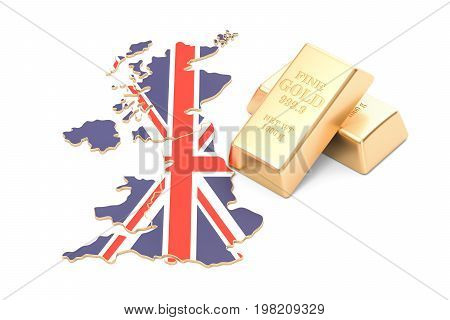 Foreign-exchange reserves of United Kingdom concept 3D rendering isolated on white background
