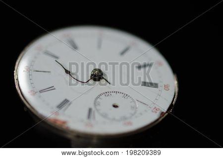 Stress of Impending Deadline Visible on Vintage Pocket Watch
