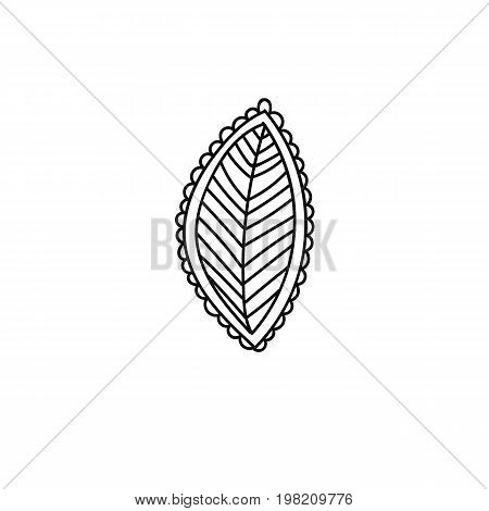 Flower leave in hand drawn style for prints, fabric and ceramic. Vector illustration.