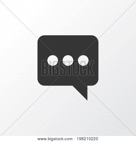 Premium Quality Isolated Messenger Element In Trendy Style.  Chatting Icon Symbol.