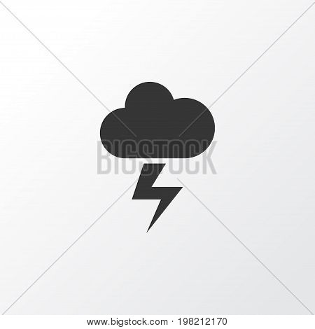 Premium Quality Isolated Lightning Element In Trendy Style.  The Flash Icon Symbol.