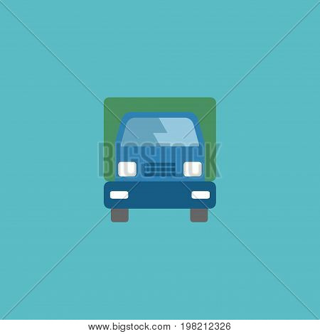 Flat Icon Lorry Element. Vector Illustration Of Flat Icon Truck Isolated On Clean Background