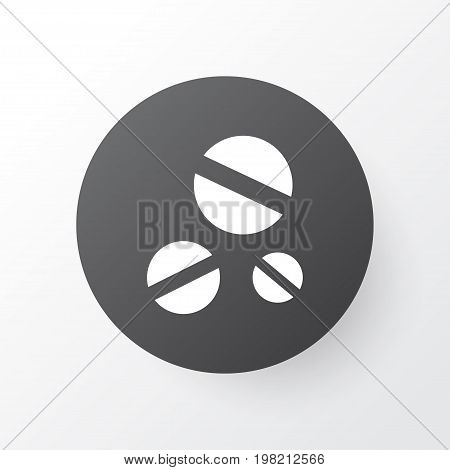 Premium Quality Isolated Cure Element In Trendy Style.  Drug Icon Symbol.