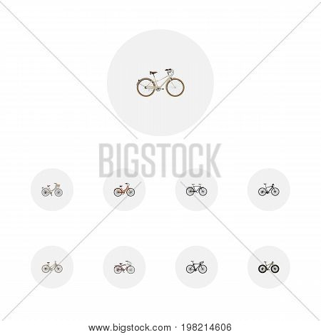 Realistic Bmx, Journey Bike, Fashionable And Other Vector Elements