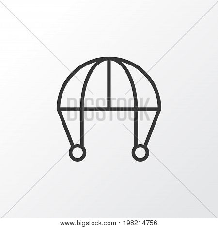 Premium Quality Isolated Skydive Element In Trendy Style.  Parachute Icon Symbol.