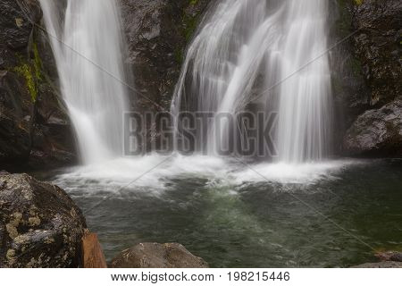 Bottom of Bash Bish Falls in Mass