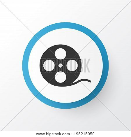 Premium Quality Isolated Filmstrip Element In Trendy Style.  Film Reel Icon Symbol.