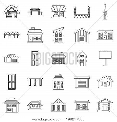 Creation icons set. Outline set of 25 creation vector icons for web isolated on white background