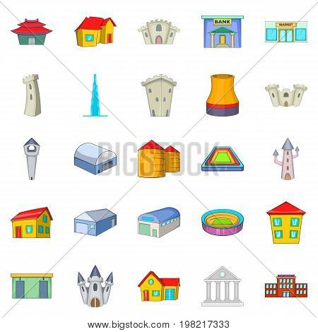 Formation icons set. Cartoon set of 25 formation vector icons for web isolated on white background