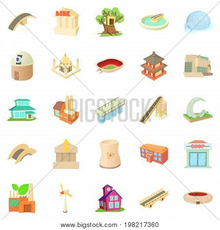 Structured icons set. Cartoon set of 25 structured vector icons for web isolated on white background