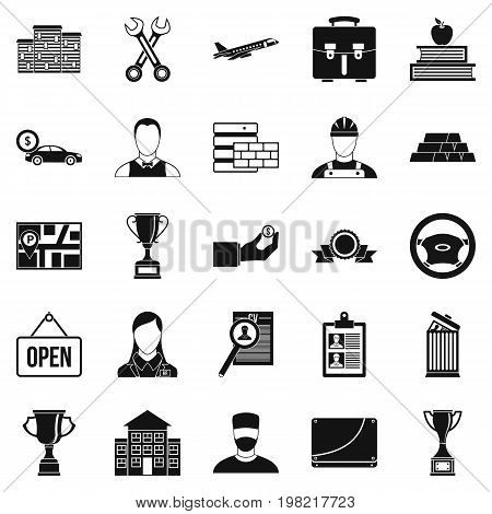Exchequer icons set. Simple set of 25 exchequer vector icons for web isolated on white background