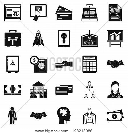 SEO development icons set. Simple set of 25 seo development vector icons for web isolated on white background
