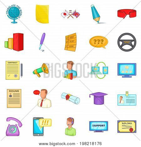 Seminar icons set. Cartoon set of 25 seminar vector icons for web isolated on white background