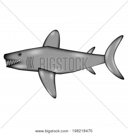 Shark sign icon on white background. Vector illustration.