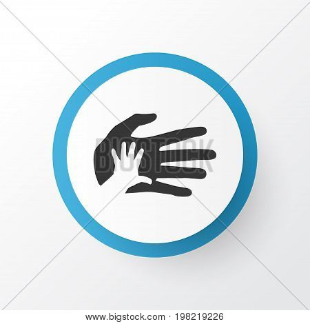 Premium Quality Isolated Helping Element In Trendy Style.  Palms Icon Symbol.