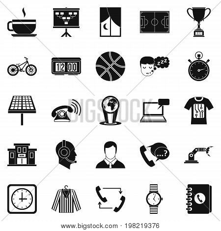Timepiece icons set. Simple set of 25 timepiece vector icons for web isolated on white background