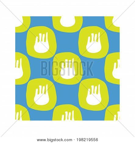 Fennel seamless pattern in flat style. Vector illustration for print fabric and creative design