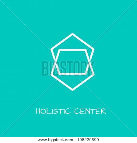 Unusual logo in simple scandinavian style for yoga studio holistic center and alternative medicine