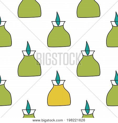 Seamless pattern with tourist burner in flat style for web, wrapping paper and creative design. Vector illustration.
