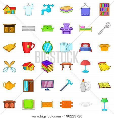 Cozy house icons set. Cartoon style of 36 cozy house vector icons for web isolated on white background