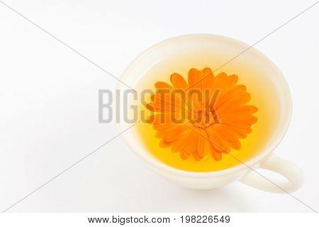 Orange Pot Marigold (calendula Officinalis) Flower Infusion
