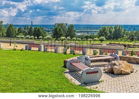 Large Novosibirsk Planetarium. Parkland Planetarium Public Access. Siberia, Russia