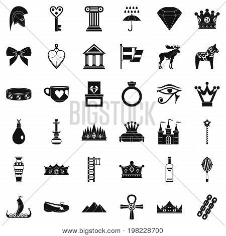 Authority icons set. Simple style of 36 authority vector icons for web isolated on white background