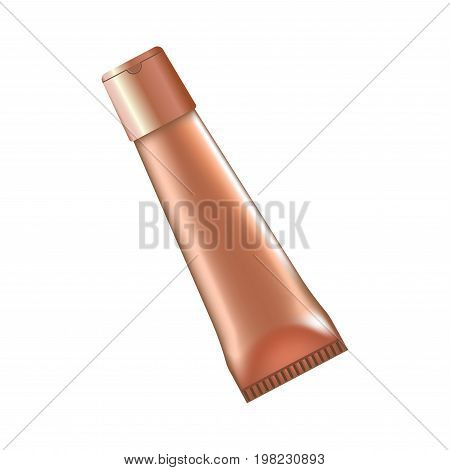Vector illustration of unlabeled tube with makeup cosmetics.