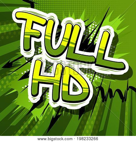 Full HD - Comic book style phrase on abstract background.