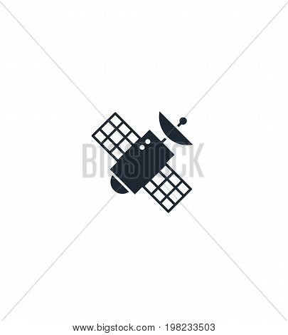 Satellite silhouette  icon. High quality black outline Logo for web site design and mobile apps. Vector illustration on a white background.