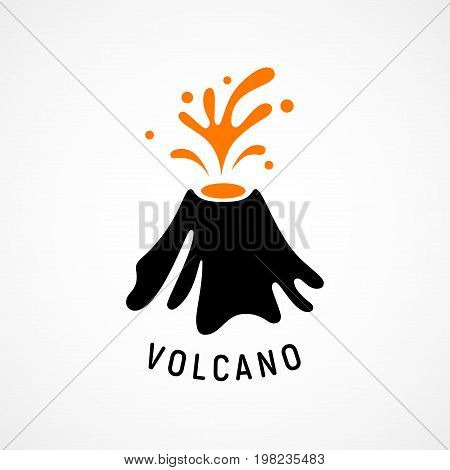 Erupting volcano icon. Eps8. RGB Global colors