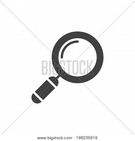 Loupe, search icon vector, filled flat sign, solid pictogram isolated on white. Symbol, logo illustration. Pixel perfect vector graphics