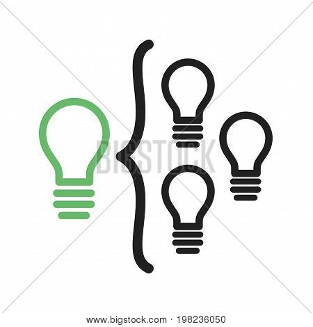 Facilitation, business, skills icon vector image. Can also be used for soft skills. Suitable for mobile apps, web apps and print media.