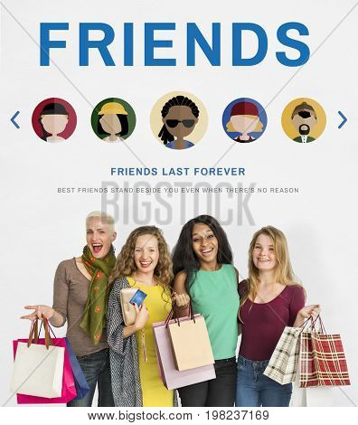 Friends Connection Together Community Concept