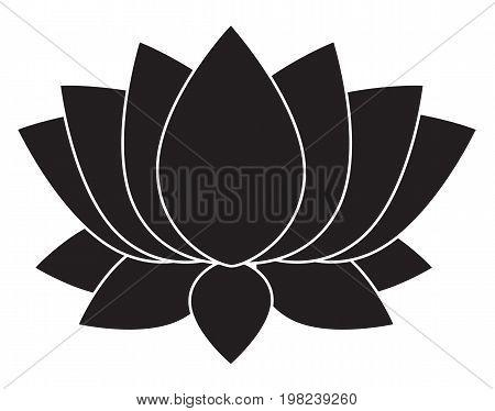 lotus flower blossom icon on white background. flat style design. lotus flower blossom sign.