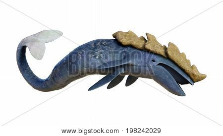 3D Rendering Sea Monster Leviathan On White