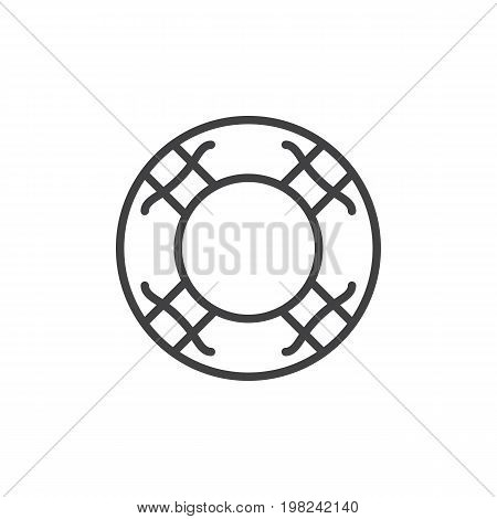 Water lifebuoy line icon, outline vector sign, linear style pictogram isolated on white. Help symbol, logo illustration. Editable stroke. Pixel perfect vector graphics