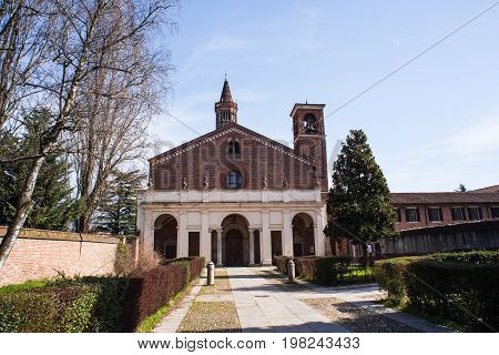 The Abbey of Santa Maria di Rovegnano called Chiaravalle Milanese