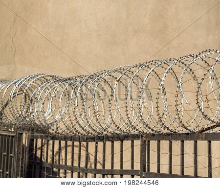 Barbed Fence  For Protection Purposes