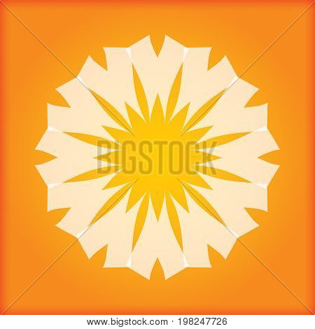 Abstract Sun icon for your presentation or template
