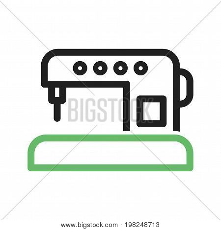 Machine, sewing, automatic icon vector image. Can also be used for Sewing. Suitable for mobile apps, web apps and print media.
