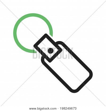 Key, chain, keyring icon vector image. Can also be used for Mens Accessories. Suitable for mobile apps, web apps and print media.