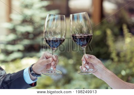 Couple Clinking Glasses