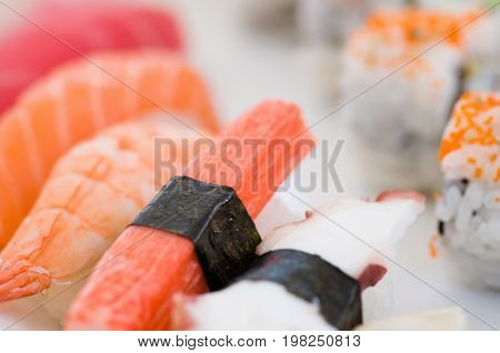 Detail From A Sushi Platter, Close Up Image, Food, Color Image