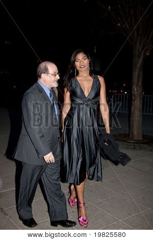 NEW YORK - APRIL 21: Author Salman Rushdie (L) and actress Pia Glenn attend the Vanity Fair Party during the 8th Annual Tribeca Film Festival April 21, 2009 in New York.