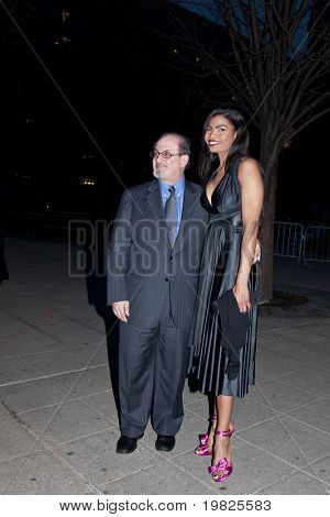 NEW YORK - APRIL 21:Author Salman Rushdie (L) and actress Pia Glenn attend the Vanity Fair Party during the 8th Annual Tribeca Film Festival April 21, 2009 in New York.
