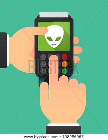Long Shadow Dataphone With An Alien Face